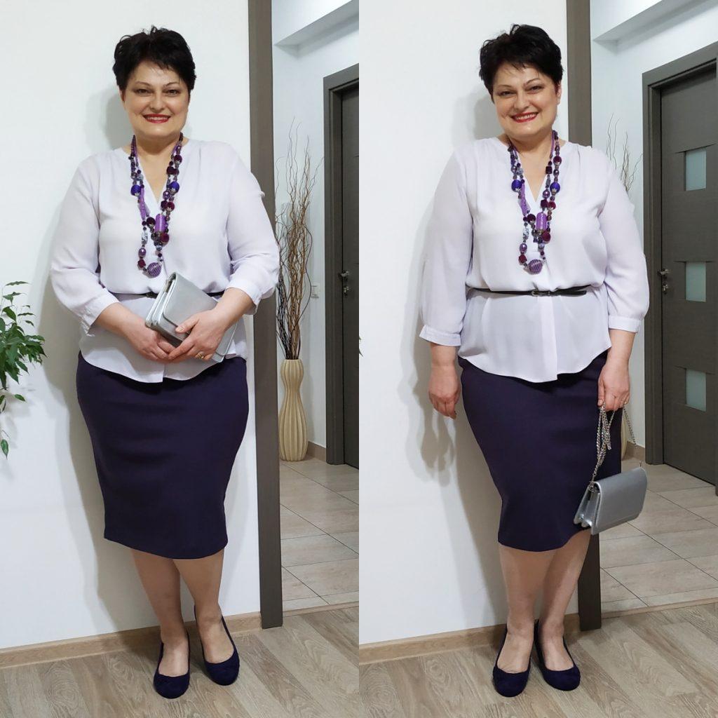 fustă şi bluză violet Roman