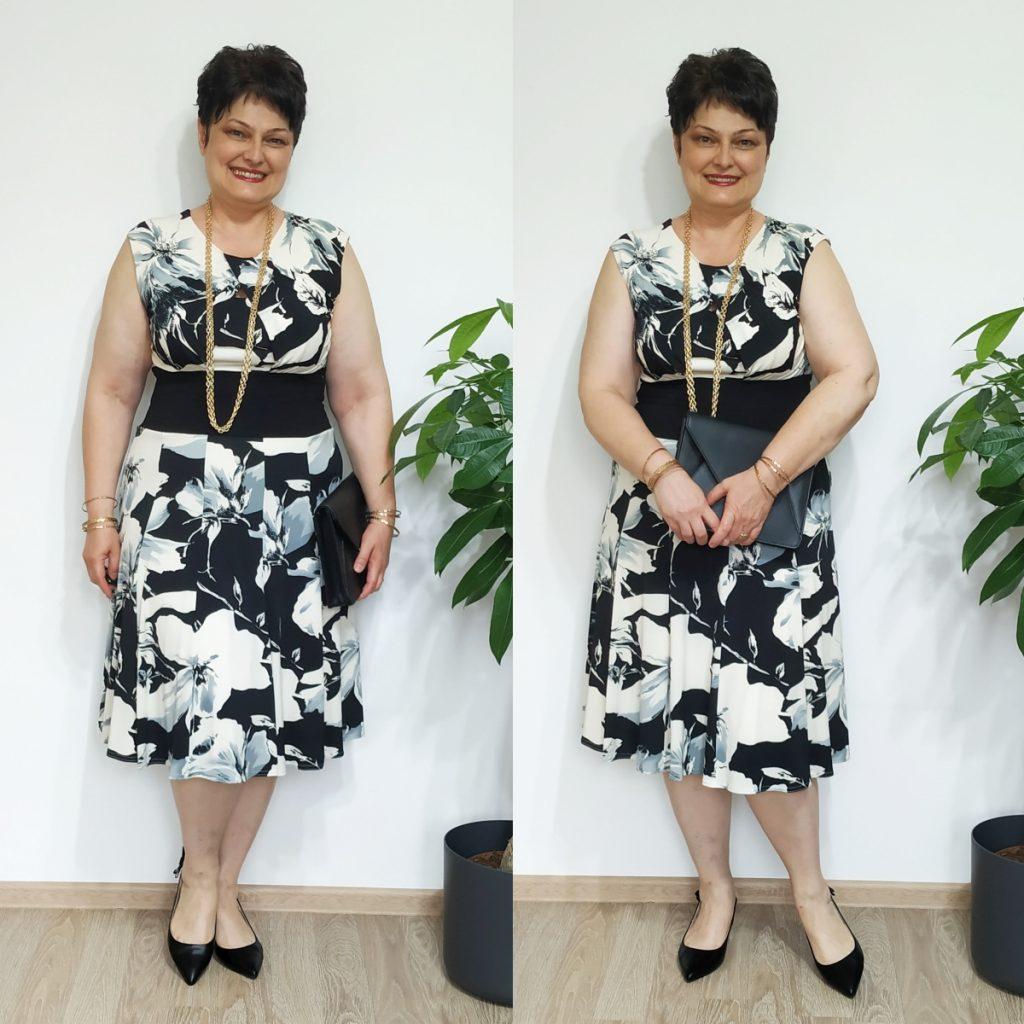rochie cu flori Roman