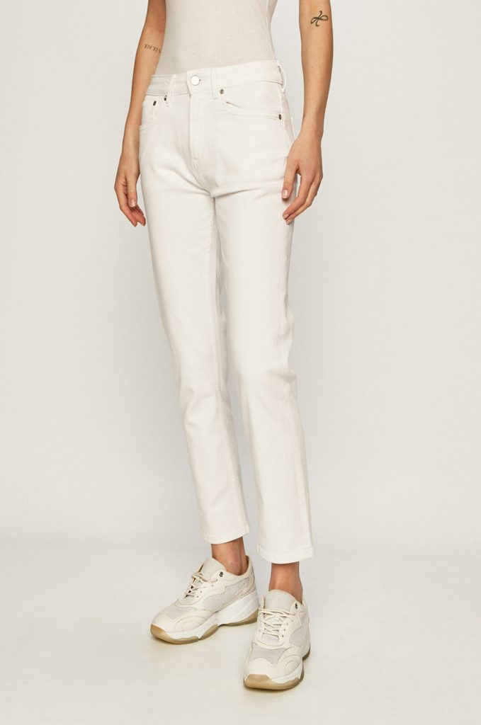 Blugi albi Pepe Jeans
