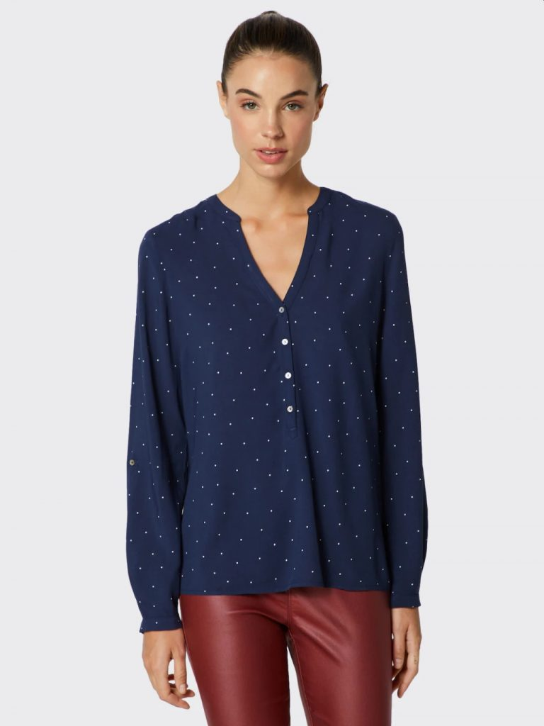 camasa bleumarin cu buline Esprit