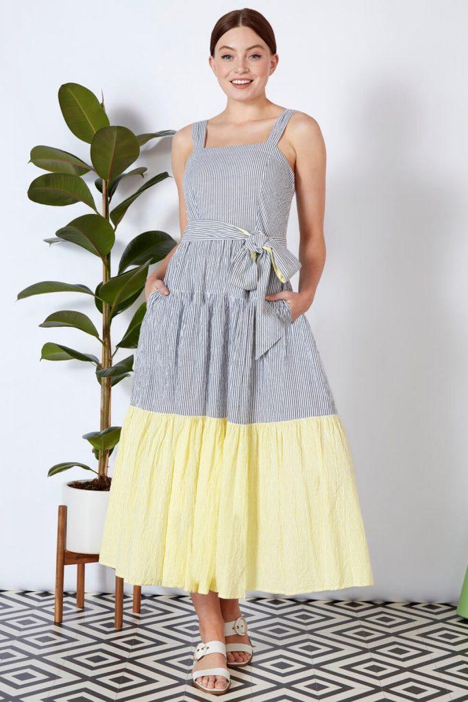 rochie de vara cu dungulite Roman