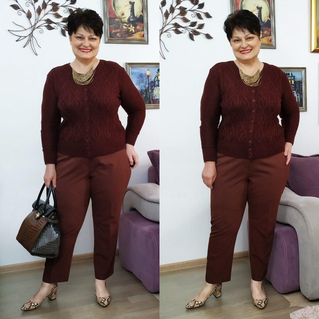 pantaloni pentru plinuţe maro