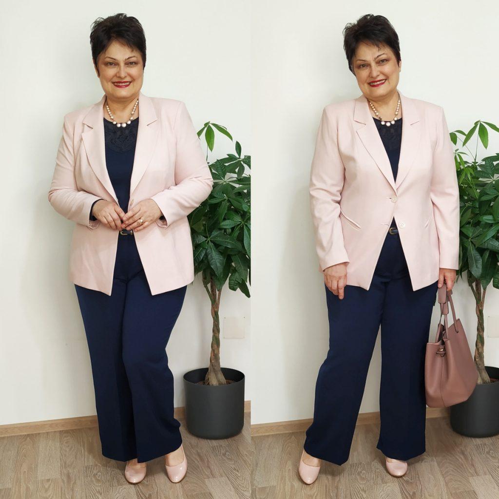 pantaloni pentru plinuţe drepti bleumarin