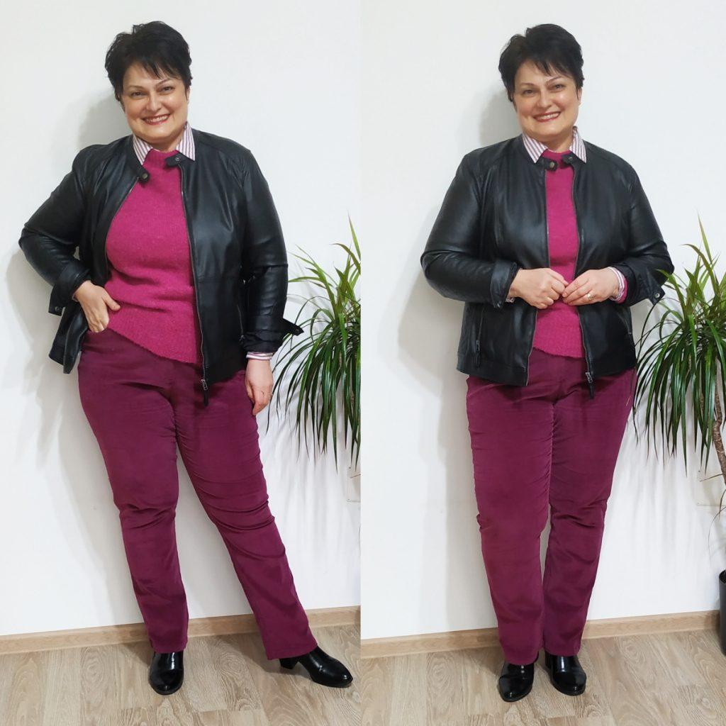 pantaloni pentru plinuţe bordo